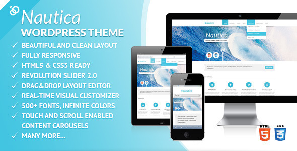 ThemeForest Nautica Responsive Multi-Purpose WordPress Theme 3553644