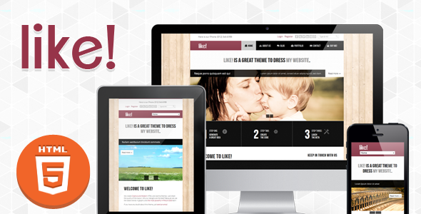 Like! :: Responsive Multipurposes HTML5/CSS3 Theme - Creative Site Templates