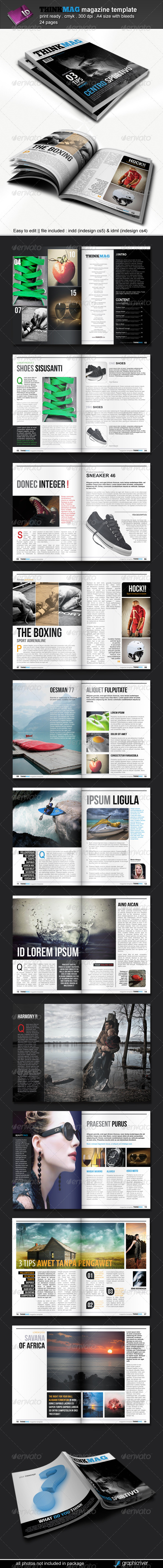 GraphicRiver Thinkmag Magazine Template 3787771