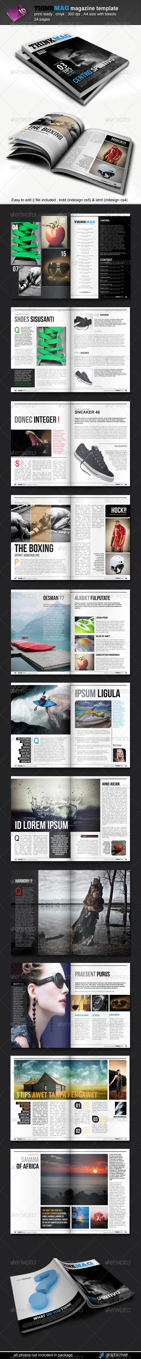 Thinkmag Magazine Template