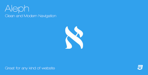Aleph - Clean and Modern Navigation - CodeCanyon Item for Sale