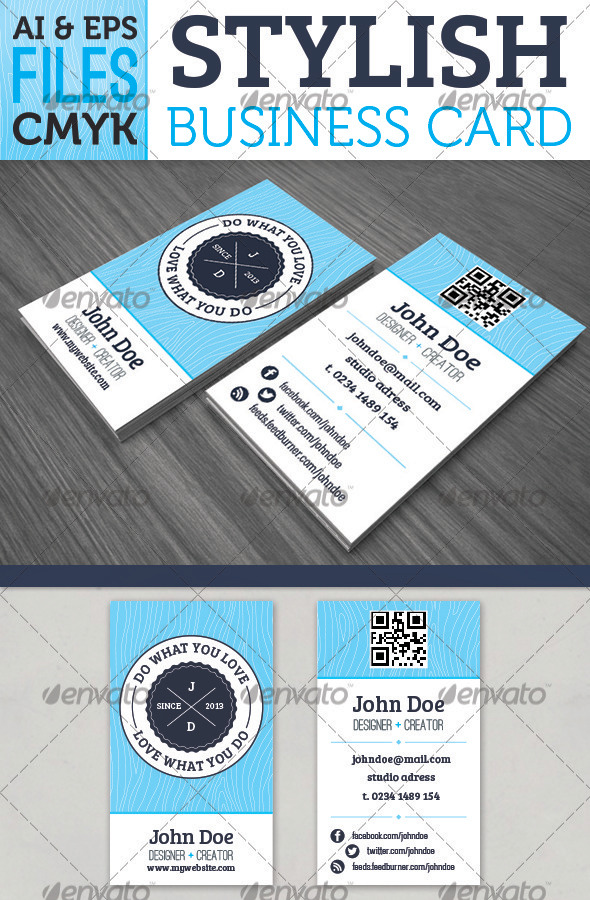 GraphicRiver Stylish Business Card 3788263