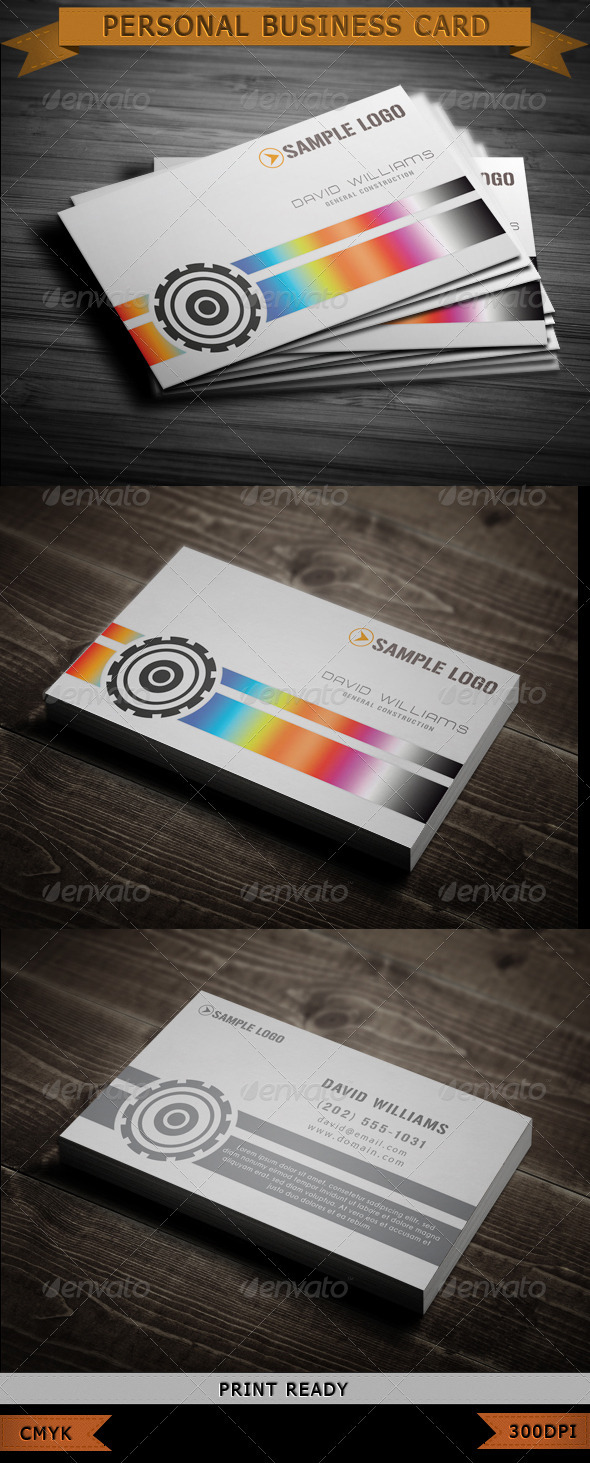 GraphicRiver Personal Business Card 3719746