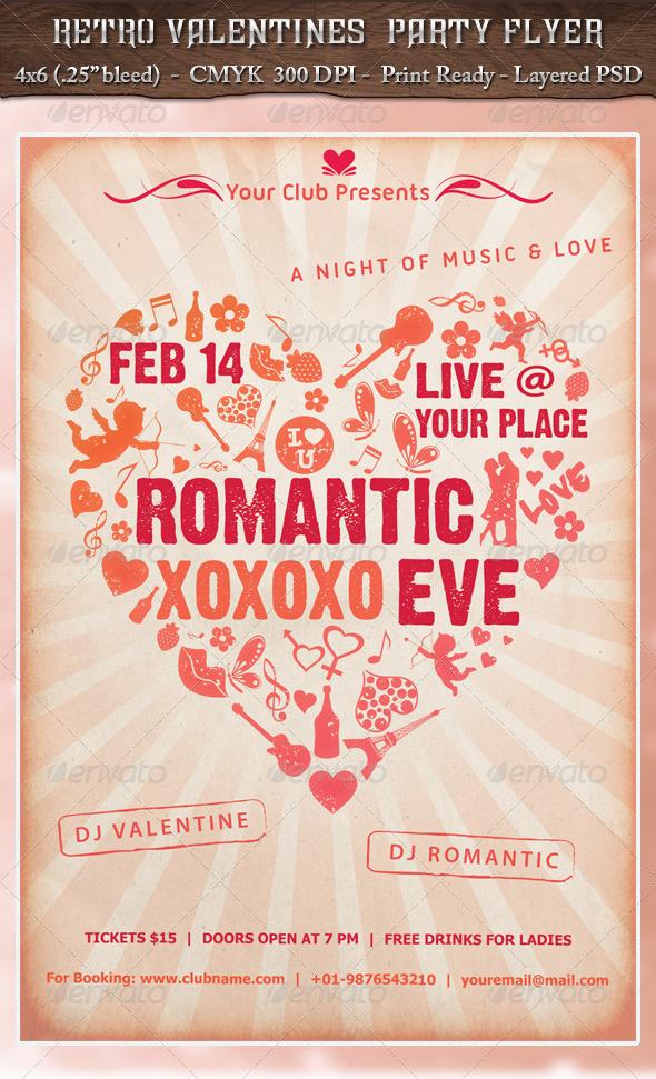 GraphicRiver Retro Valentines Party 3730223