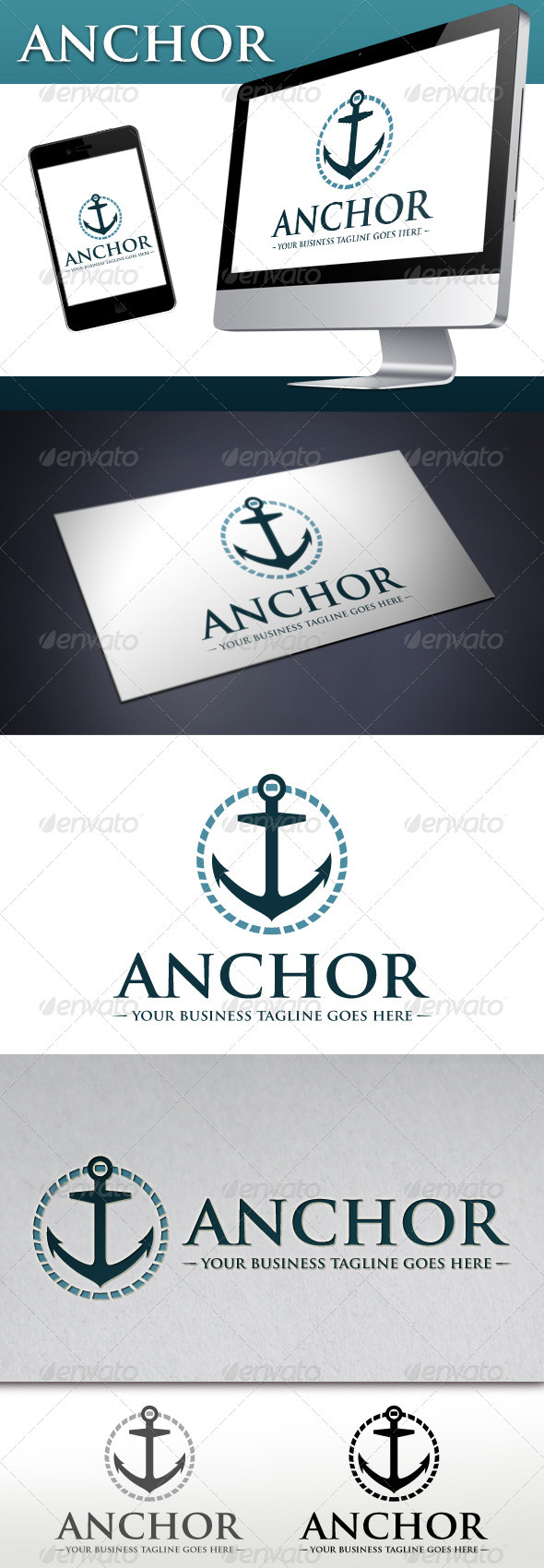 GraphicRiver Marine Anchor Logo 3789118
