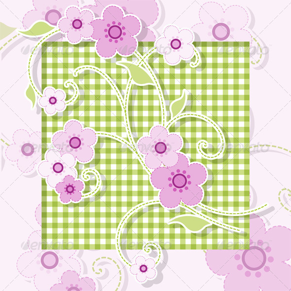 GraphicRiver Pink Flowers 3789547