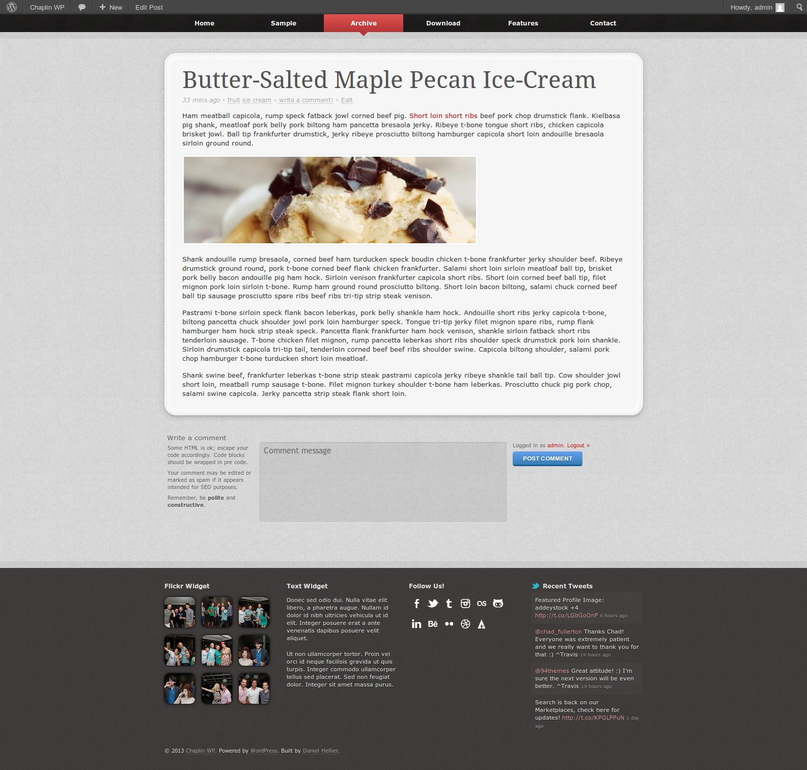 Chaplin WP - Responsive WordPress Theme