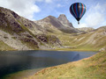 Hot-air Balloon over Alpine Lake - PhotoDune Item for Sale