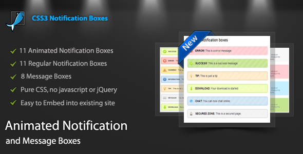 CodeCanyon CSS3 Animated Notification Pack 3784551