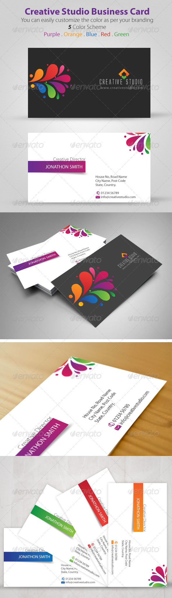 Creative Studio Business Card - Creative Business Cards