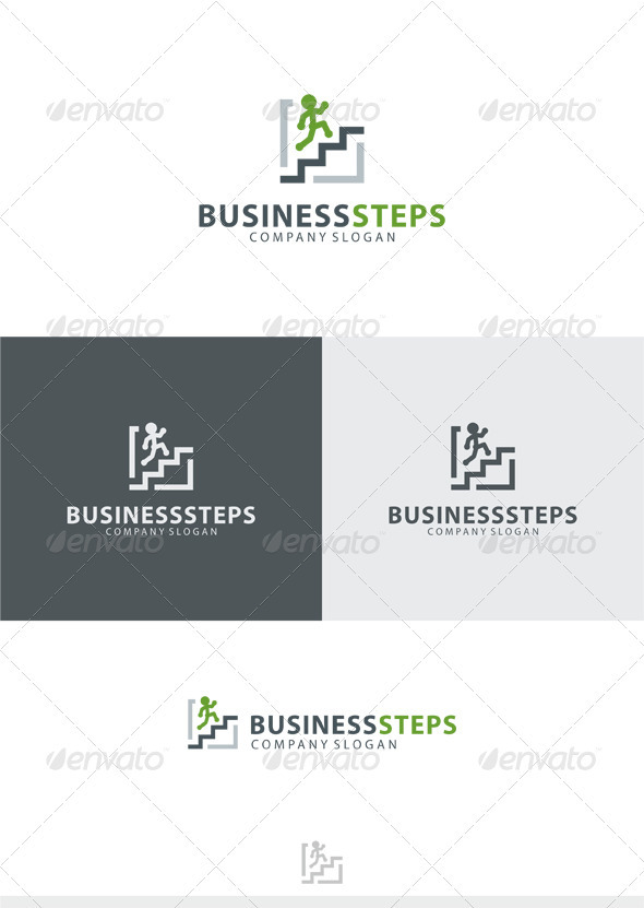 Business Steps Logo - Humans Logo Templates