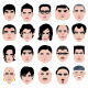 Man face head shape hairstyle round fat thin old - GraphicRiver Item for Sale