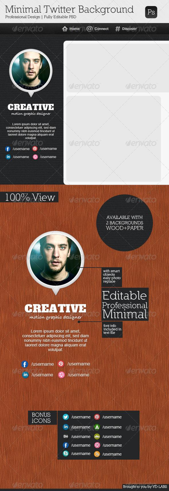 GraphicRiver Minimal Twitter Background V7 3791160