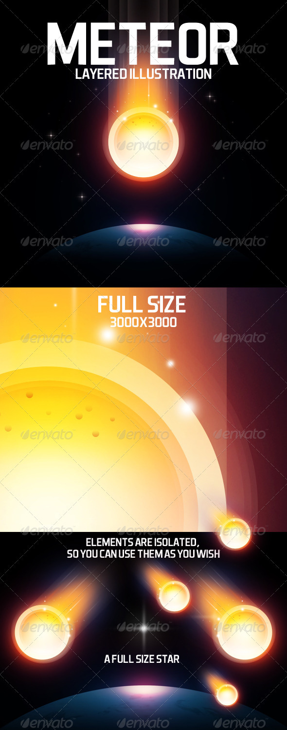 GraphicRiver Meteor layered illustration 3791219