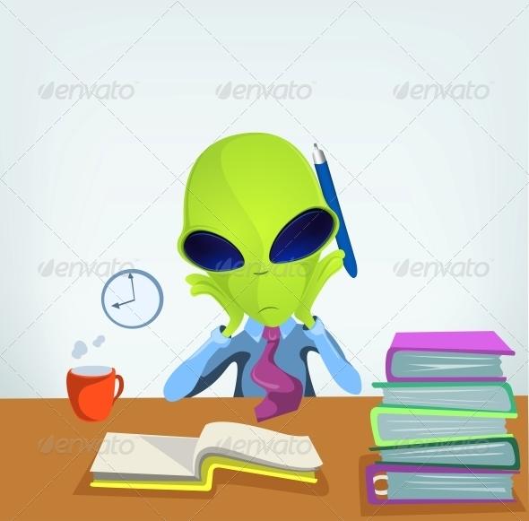 GraphicRiver Funny Alien 3791229