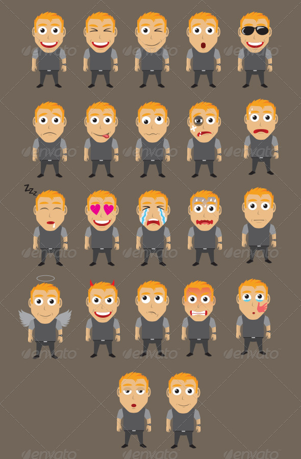 GraphicRiver Character Expression Version 5 3791248