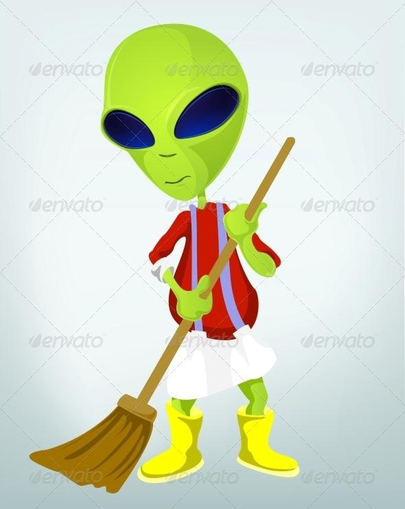 GraphicRiver Funny Alien 3791297