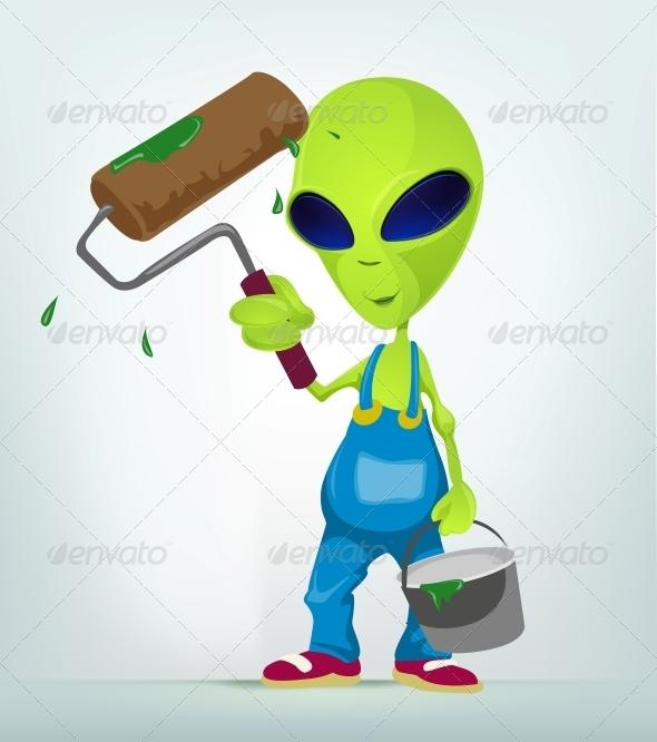 GraphicRiver Funny Alien 3791322