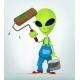 Download Vector Funny Alien