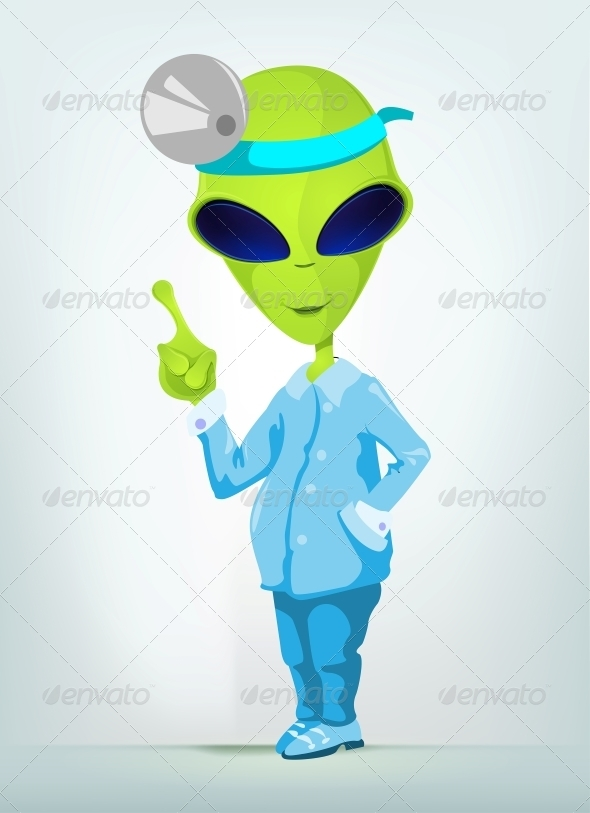 GraphicRiver Funny Alien 3791329