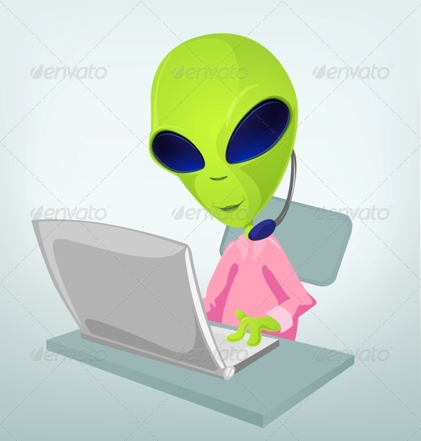 GraphicRiver Funny Alien 3791393