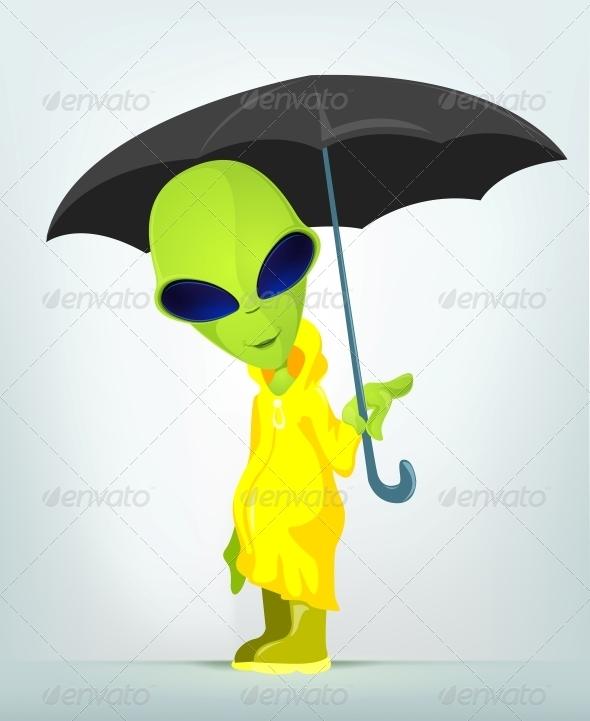 GraphicRiver Funny Alien 3791428