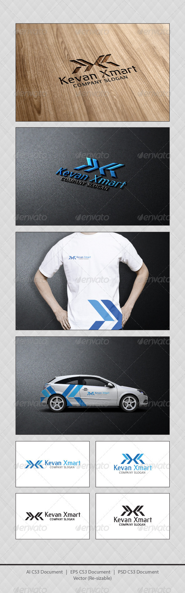 GraphicRiver Kevan Xmart Logo Templates 3704877