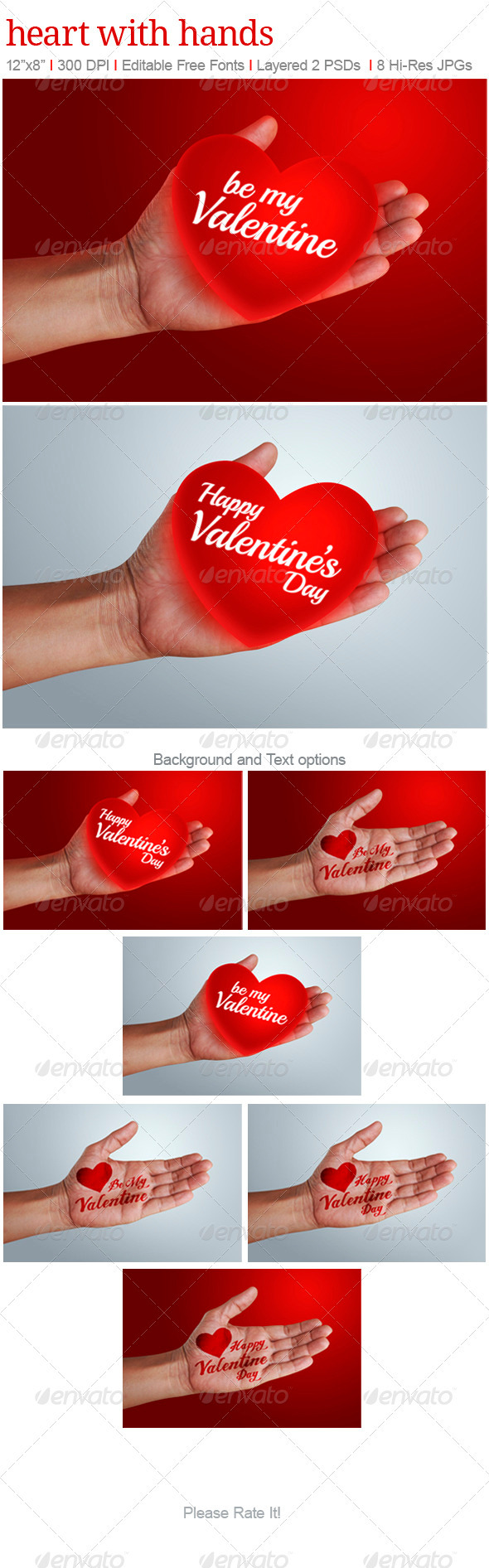 GraphicRiver Heart with Hands 3741557