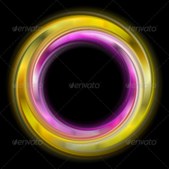 GraphicRiver Colourful abstract rings Vector logo 3791799