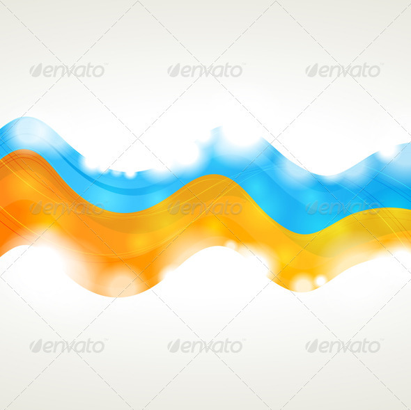 GraphicRiver Vibrant vector wavy background 3791811