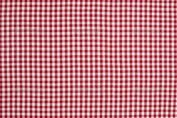 Red and White Gingham Checkered Tablecloth