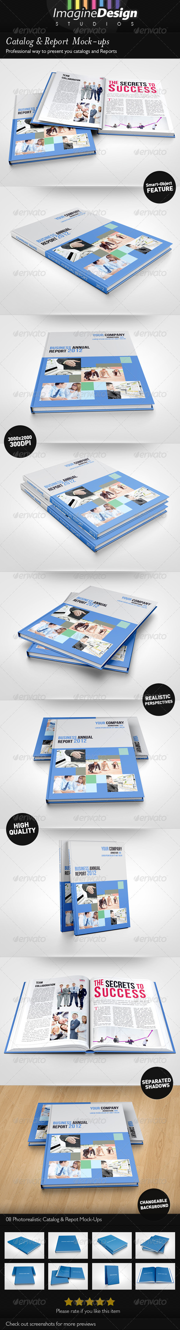 GraphicRiver Photorealistic Catalog Report Mock-up 3791996