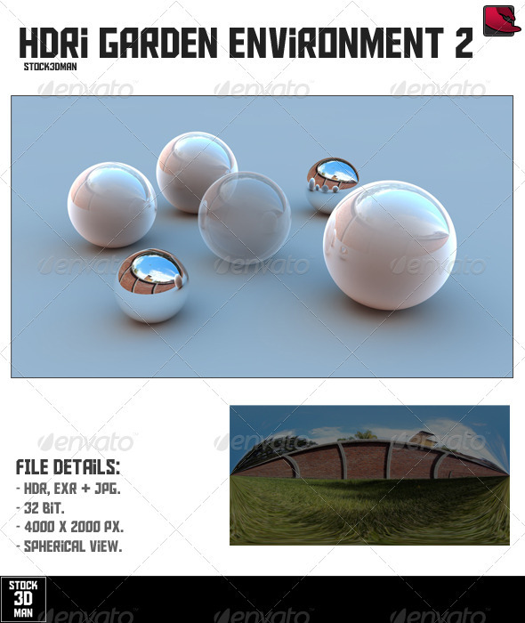 HDRi Garden Environment 2 - 3DOcean Item for Sale
