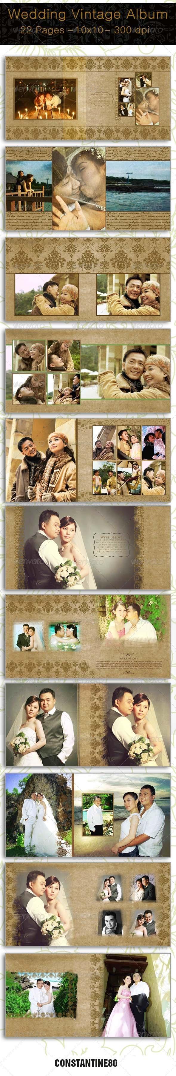 GraphicRiver Wedding Vintage Album 3791999