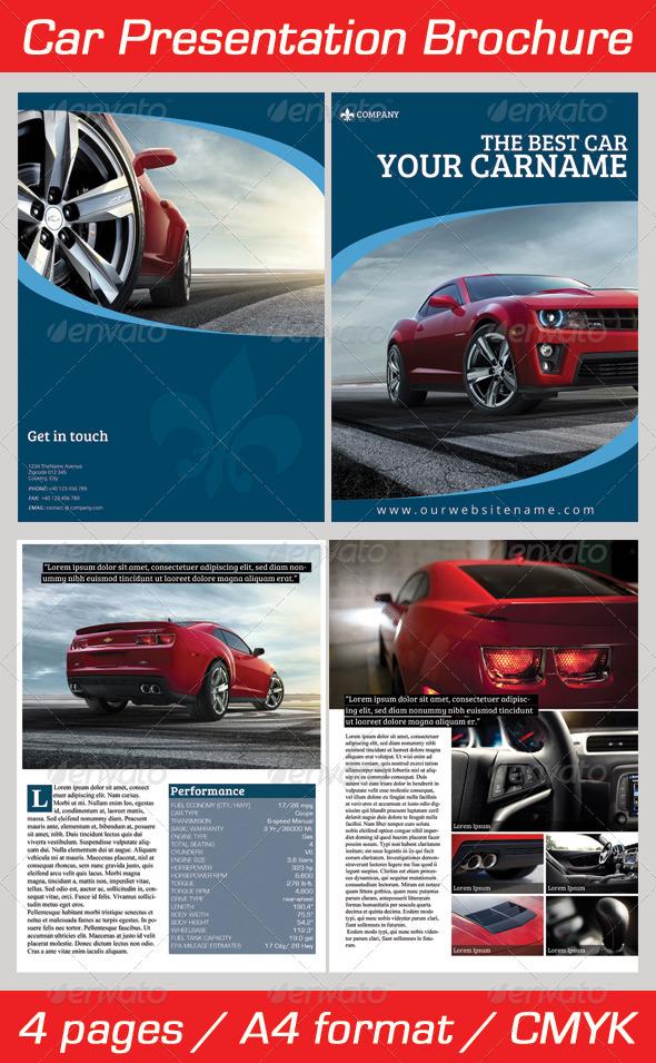 GraphicRiver Car Presentation Brochure 3725482