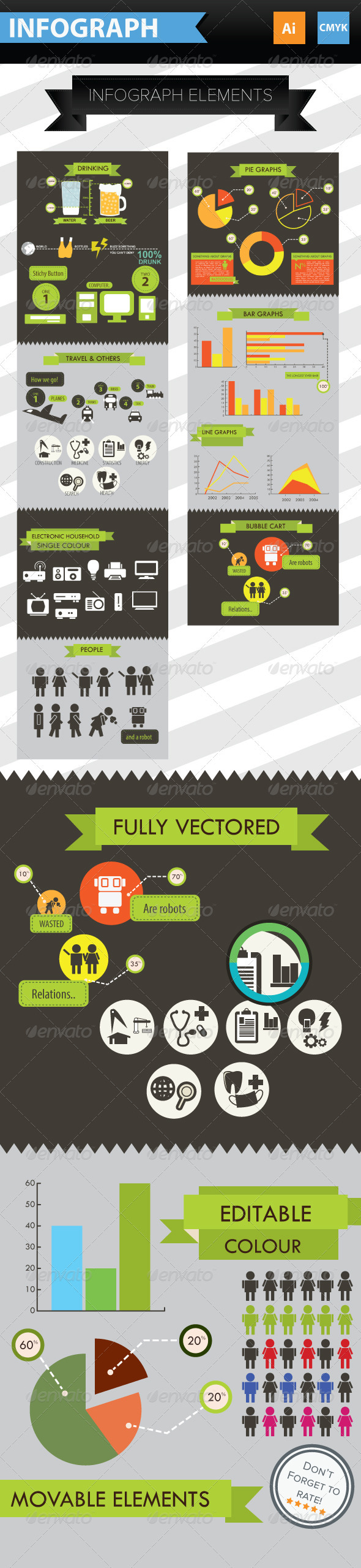 GraphicRiver Infographic Elements & Icons 3792005