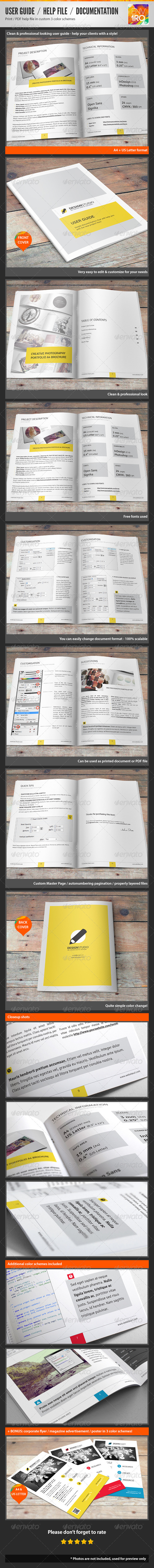 GraphicRiver Help File Illustrated Documentation User Guide 3792287