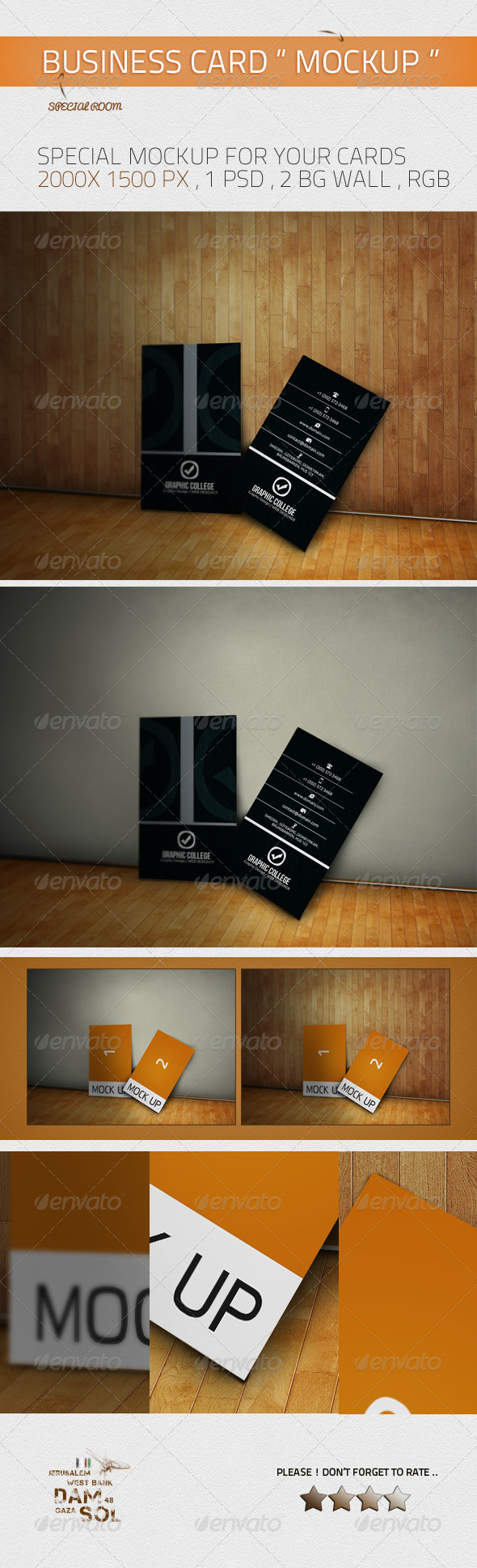 GraphicRiver Ro Business Card MockUp 3792497