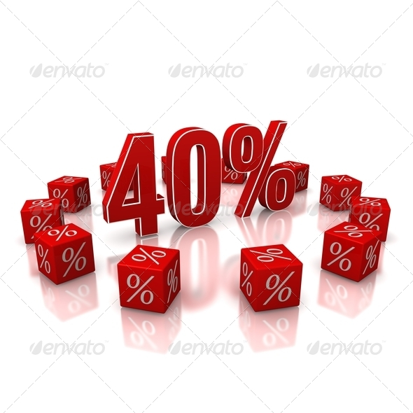 Discount 40 - Stock Photo - Images
