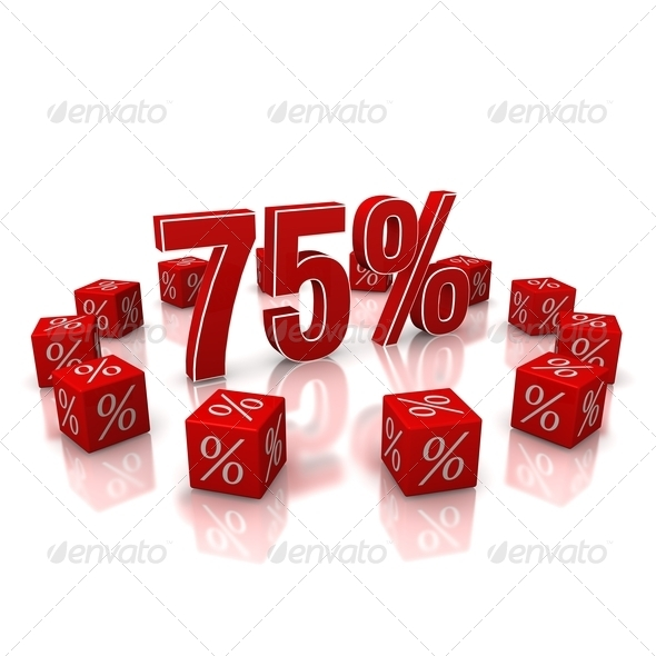Discount 75 - Stock Photo - Images
