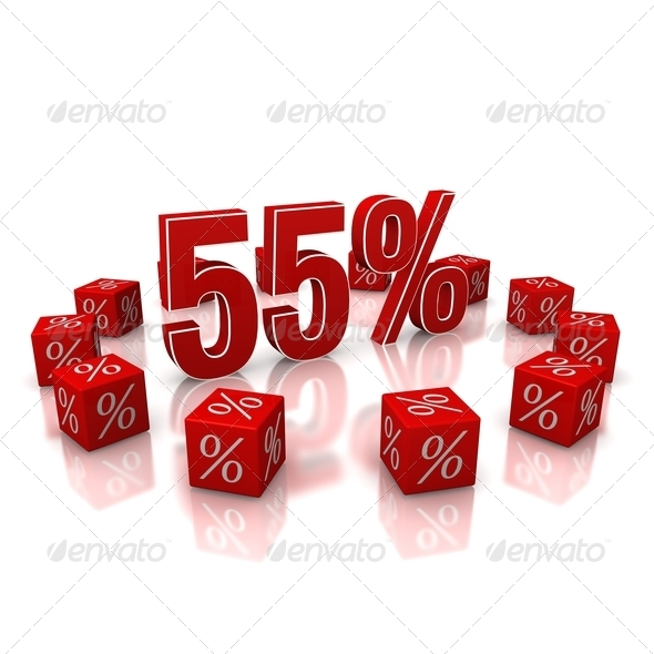 Discount 55 - Stock Photo - Images