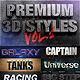 Dimensions - Premium 3D Styles Vol.1 - GraphicRiver Item for Sale
