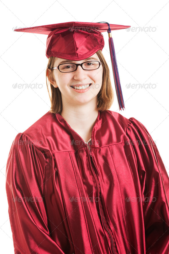Smiling Female Graduate - Stock Photo - Images