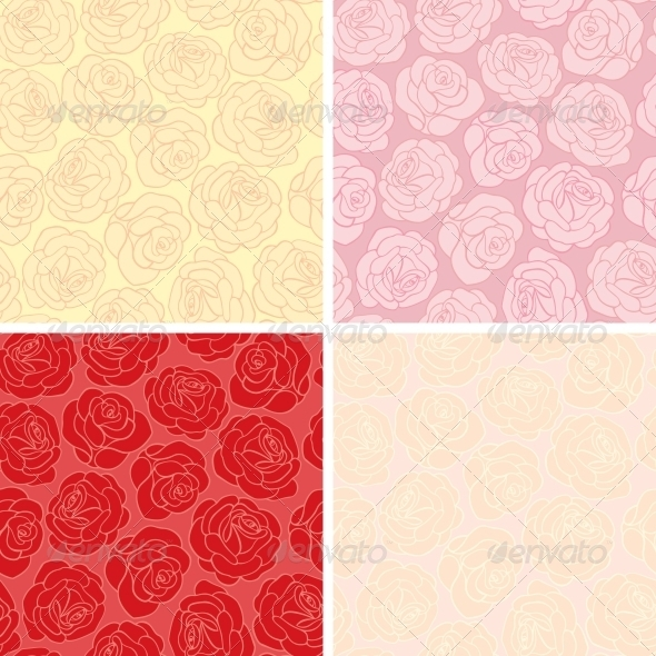 GraphicRiver Seamless background with roses 3793050