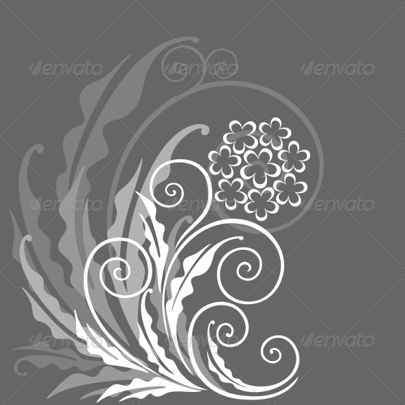 GraphicRiver Decorative floral background 3793053