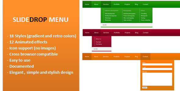 CodeCanyon Slide Drop Menu 3793466