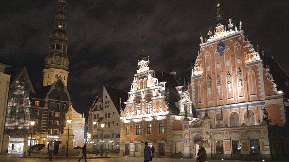 Old Riga At Night VideoHive Stock Footage  City 3793840