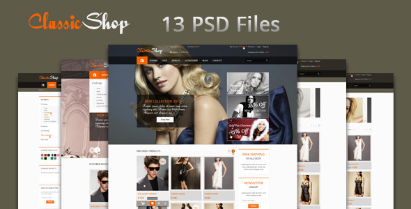 The Online Shop - PSD Templates - Retail PSD Templates