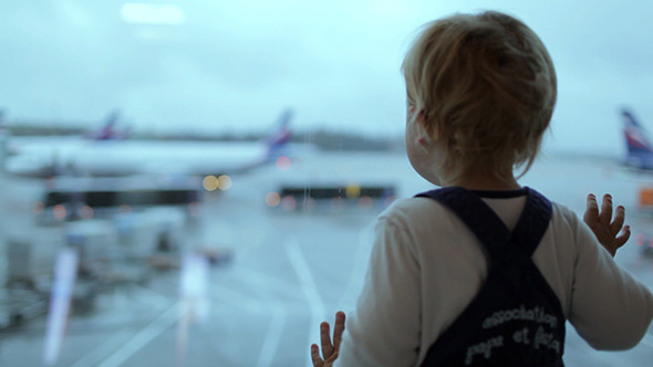 Boy at the Airport VideoHive Stock Footage  People 3793998