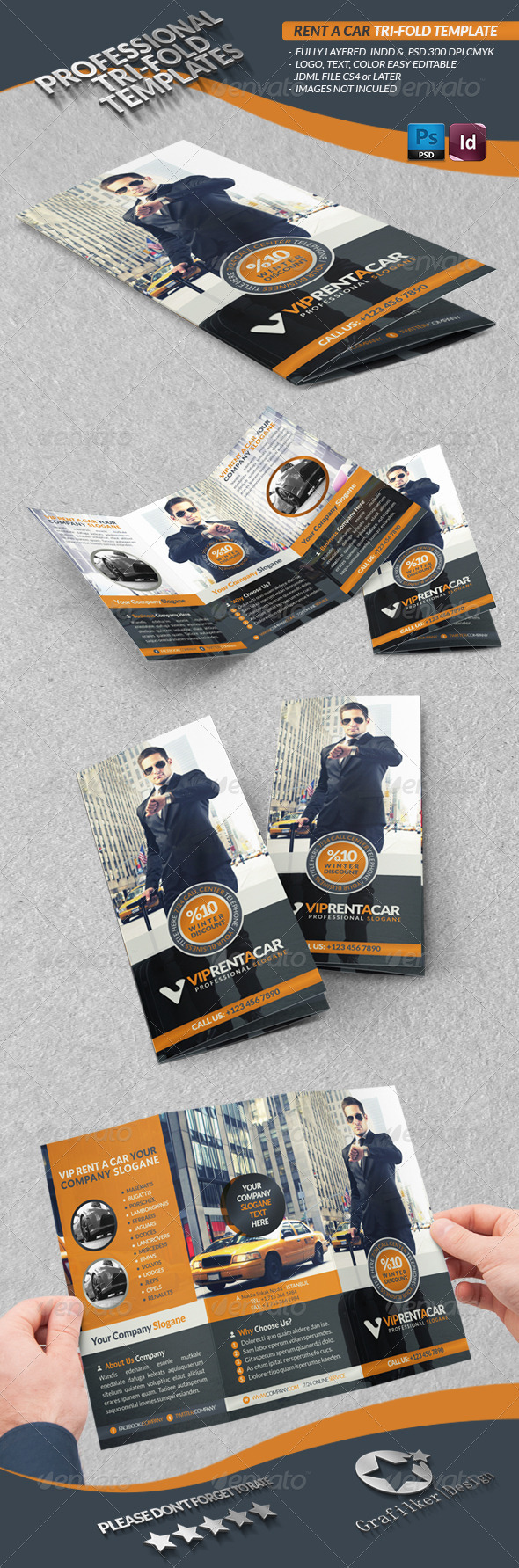 GraphicRiver Rent A Car Business Tri-Fold 3794657